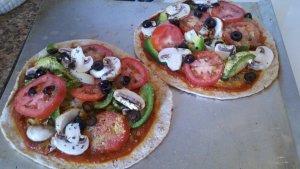 Healthy No-Cheese Pizza