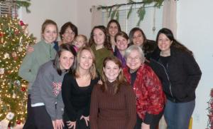 Girls' night with some of our friends! We went on a tacky light tour!